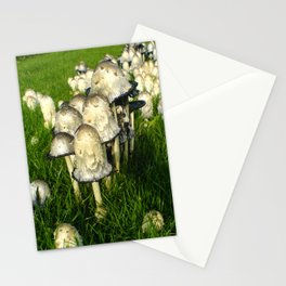 Mushrooms on grass Stationery Cards