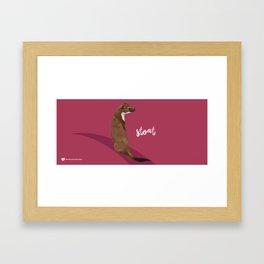 Stoat Framed Art Print