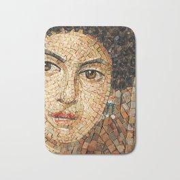 Detail of Woman Portrait. Mosaic art Bath Mat