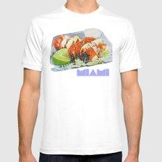 Stone Crab White Mens Fitted Tee MEDIUM