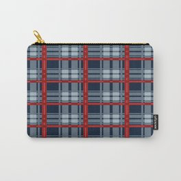 Red Line White And Red Lumberjack Flannel Pattern Carry-All Pouch