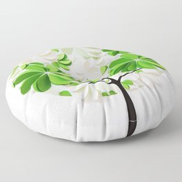 Green tree Floor Pillow