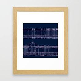 stitched gate Framed Art Print