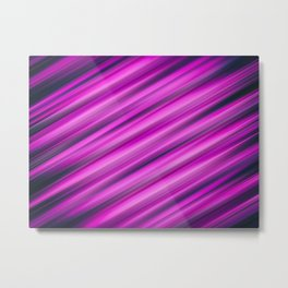 Abstract background blur motion pink strip Metal Print
