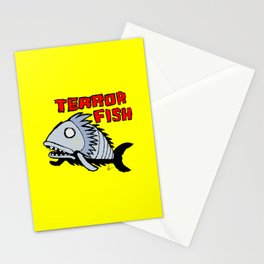 Terror fish Stationery Cards