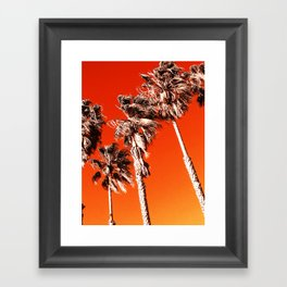California Wild Fire Framed Art Print
