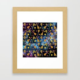 Inner Senshi in SPACE Framed Art Print