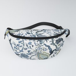 Blue vintage chinoiserie flora Fanny Pack