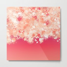 paint splatter on gradient pattern bti Metal Print
