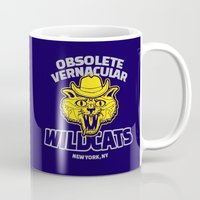 royal tenenbaums Mugs featuring Obsolete Vernacular Wildcats (Royal Tenenbaums) by Tabner's