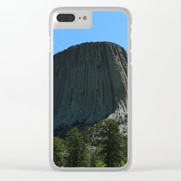 Devils Tower Rising Into The Sky Clear iPhone Case