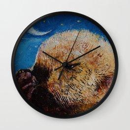 Sea Otter Pup Wall Clock
