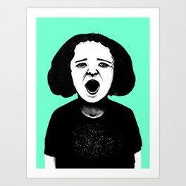 Cutout Turquoise Art Print