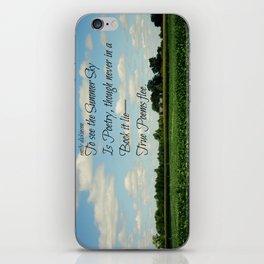 Summer Emily Dickinson iPhone Skin