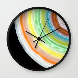 Colorful Abstract Slice of Giant Jawbreaker Candy Wall Clock