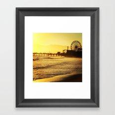 Santa Monica peir Framed Art Print