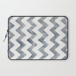 Raining Chevron, Grey Chevron, Alloy Chevron - Art Watercolor Painting by Suisai Genki Laptop Sleeve