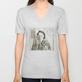 Art is a guarantee of Sanity Unisex V-Neck