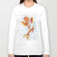 koi fish Long Sleeve T-shirts featuring Koi Fish by Give me Violence