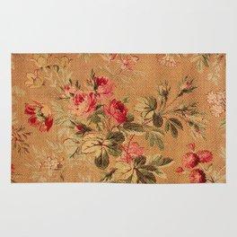 Vintage Floral Pattern Rug