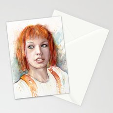 Leeloo Portrait Fifth Element Art Stationery Cards