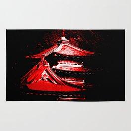 Red Pagoda Rug