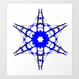 Blue Star Abstract Art Print
