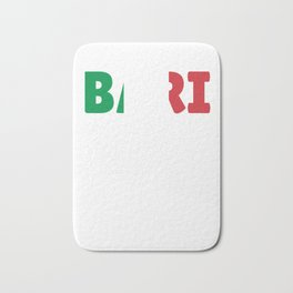 Bari Italy flag holiday gift Bath Mat