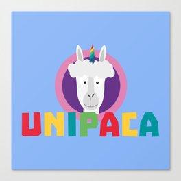 Alpaca Unicorn Unipaca B4srx Canvas Print