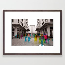 Sequential Serie : The Maket Place Framed Art Print