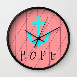 Christian Anchor of Hope Wall Clock