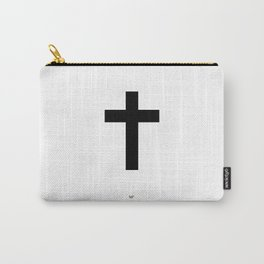 Black Cross Carry-All Pouch