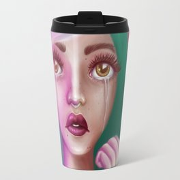 Crying Alien Girl in Space Travel Mug