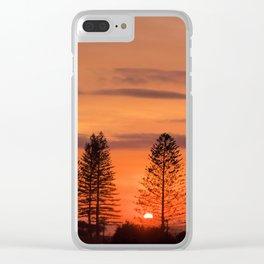 Kings Beach Sunrise Clear iPhone Case