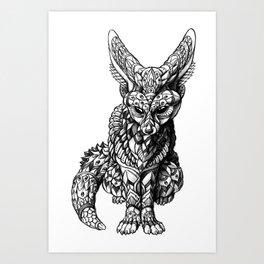 Fennec Fox Art Print