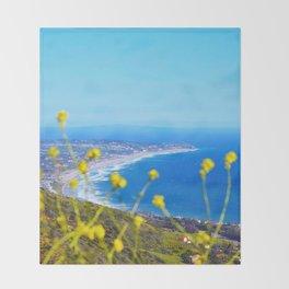 Malibu Flowers Throw Blanket