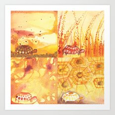 4 Tortoise Art Print