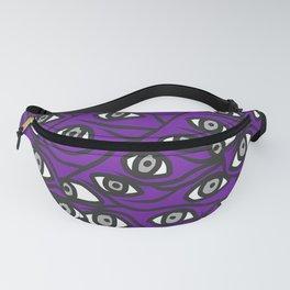 Freddie Eyeballs Ultraviolet Blue Purple Fanny Pack
