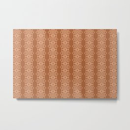 Stripe Pattern Graphic yellow brown Design Metal Print
