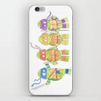 ninja turtles iPhone & iPod Skins featuring Ninja Turtles by Icameisawiateit