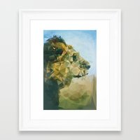 lion Framed Art Prints featuring Lion by Esco