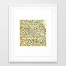Chicago Map Framed Art Print