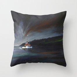 Waverley Paddle Steamer Scotland Throw Pillow