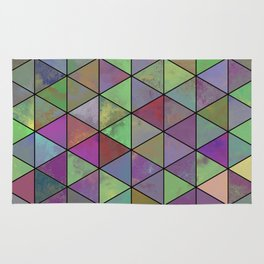 Pastel Triangulation - Abstract, textured, geometric painting Rug