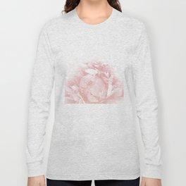 Beautiful Blush Cotton Peony Long Sleeve T-shirt