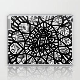 Black and White Doodle 7 Laptop & iPad Skin