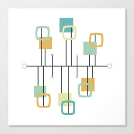 Mid Century Modern Abstract Pattern Shape Canvas Print