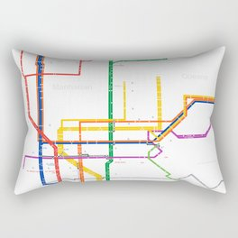 New York City subway map Rectangular Pillow