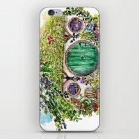 hobbit iPhone & iPod Skins featuring Hobbit hole by Kris-Tea Books