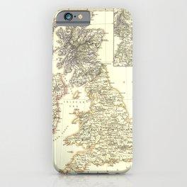 Vintage Map - Spruner-Menke Handatlas (1880) - 61 The British Isles from 1485-1830 iPhone Case